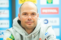 Miha Verdnik during press conference of Slovenian Alpine Ski team and coaching team for new season 2019/20, on May 6th, 2019, in SZS, Ljubljana, Slovenia. Photo by Vid Ponikvar / Sportida