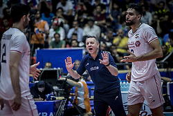 URMIA, June 17, 2019  Igor Kokakovic of Iran reacts during the FIVB Volleyball Nations League match between Iran and Russia in Urmia, Iran, June 16, 2019. (Credit Image: © Ahmad Halabisaz/Xinhua via ZUMA Wire)