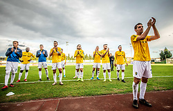 Luka Žinko of Bravo and other players celebrate after the football match between NK Bravo and NK Celje in 13th Round of Prva liga Telekom Slovenije 2019/20, on October 5, 2019 in ZAK stadium, Ljubljana, Slovenia. Photo by Vid Ponikvar / Sportida