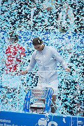 April 29, 2018 - Barcelona, Barcelona, Spain - RAFAEL NADAL celebrates his 11th victory at the Barcelona Open Banc Sabadell 2018. RAFAEL NADAL won the final 6-2 6-1 against STEFANOS TSITSIPAS. (Credit Image: © Patricia Rodrigues/via ZUMA Wire via ZUMA Wire)