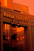 Image of The Kodak Theatre at dusk, Hollywood & Highland Avenues, Hollywood, Los Angeles, California, America west coast