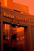 Image of The Kodak Theatre at dusk, Hollywood & Highland Avenues, Hollywood, Los Angeles, California, America west coast