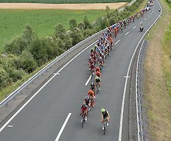 09.07.2015, Drobollach, AUT, Österreich Radrundfahrt, 5. Etappe, Drobollach nach Matrei in Osttirol, im Bild Das Hauptfeld im Drautal // the peloton at the Drautal during the Tour of Austria, 5th Stage, from Drobollach to Matrei in Osttirol, Drobollach, Austria on 2015/07/09. EXPA Pictures © 2015, PhotoCredit: EXPA/ Reinhard Eisenbauer