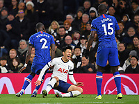 Football - 2019 / 2020 Premier League - Tottenham Hotspur vs. Chelsea<br /> <br /> Tottenham Hotspur's Son Heung-Min challenged by Chelsea's Antonio Rudiger leading to his reaction and the red card, at The Tottenham Hotspur Stadium.<br /> <br /> COLORSPORT/ASHLEY WESTERN