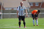 Peacehaven James Brotherton during the Pre-Season Friendly match between Peacehaven & Telscombe and Luton Town at the Peacehaven Football Club, Peacehaven, United Kingdom on 18 July 2015. Photo by Phil Duncan.