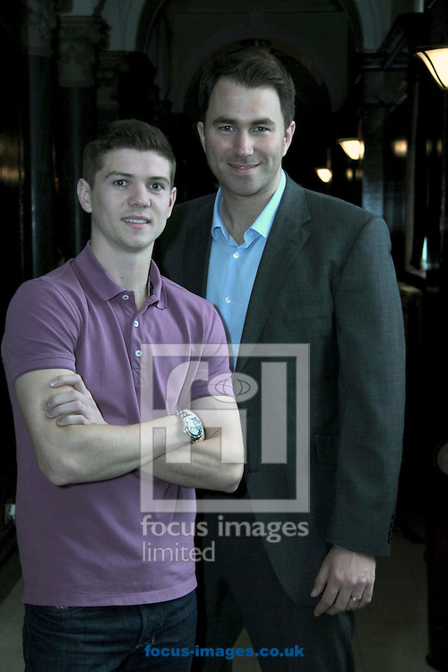 Picture by Richard Gould/Focus Images Ltd +447814 482222.24/04/2013.Luke Campbell & Eddie Hearn at the Press Conference at Hull City Hall, Hull.