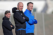 assistant trainer *Arne Slot* of AZ Alkmaar, coach *John van den Brom* of AZ Alkmaar,