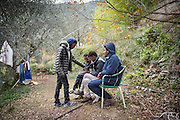 December 5, 2016 - Breil-sur-Roya, France: Eritrean migrants that found shelter on the farm of Cedric Herrou. Cedric is one of the 120 inhabitants of the village Breil-sur-Roya in the Roya valley, in the Alps on the French Italian border, who formed a network to help migrants who walked into the valley from Ventimiglia, Italy. <br /> <br /> 5 d&eacute;cembre 2016 - Breil-sur-Roya, France: des migrants &eacute;rythr&eacute;ens qui ont trouv&eacute; refuge sur la ferme de Cedric Herrou. C&eacute;dric est un des 120 habitants du village de Breil-sur-Roya dans la vall&eacute;e de la Roya, dans les Alpes &agrave; la fronti&egrave;re fran&ccedil;o-italienne, qui a form&eacute; un r&eacute;seau pour aider des migrants qui sont entr&eacute;s dans la vall&eacute;e par Vintimille en Italie.