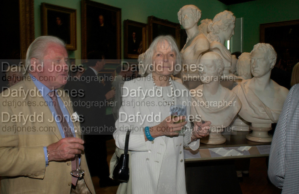 Viscount  and Viscountess Norwich. Celebration of Lord Weidenfeld's 60 Years in Publishing hosted by Orion. the Weldon Galleries. National Portrait Gallery. London. 29 June 2005. ONE TIME USE ONLY - DO NOT ARCHIVE  © Copyright Photograph by Dafydd Jones 66 Stockwell Park Rd. London SW9 0DA Tel 020 7733 0108 www.dafjones.com