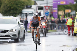 Lucinda Brand (NED) of Rabo-Liv Cycling Team starts the final lap of the 97,1 km second stage of the 2016 Ladies' Tour of Norway women's road cycling race on August 13, 2016 between Mysen and Sarpsborg, Norway. (Photo by Balint Hamvas/Velofocus)