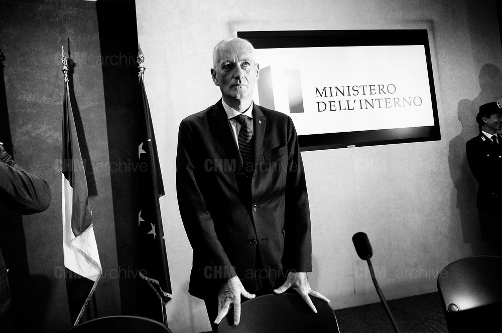 Franco Gabrielli at the press room of Viminale palace, headquarters ofMinistry of Interiors. Rome 19 September 2018. Christian Mantuano / OneShot