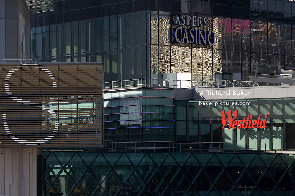 Architecture and design of the Westfield City shopping centre in Stratford, home of the 2012 Olympics.