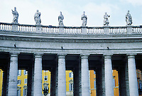 Detail of St. Peter's Square, Designed by Bernini.  Rome, Italy.