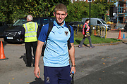 AFC Wimbledon Jack Madelin (31) arriving for the game during the EFL Sky Bet League 1 match between AFC Wimbledon and Portsmouth at the Cherry Red Records Stadium, Kingston, England on 19 October 2019.