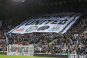 Newcastle United fans during the EFL Sky Bet Championship match between Newcastle United and Aston Villa at St. James's Park, Newcastle, England on 20 February 2017. Photo by Simon Davies.