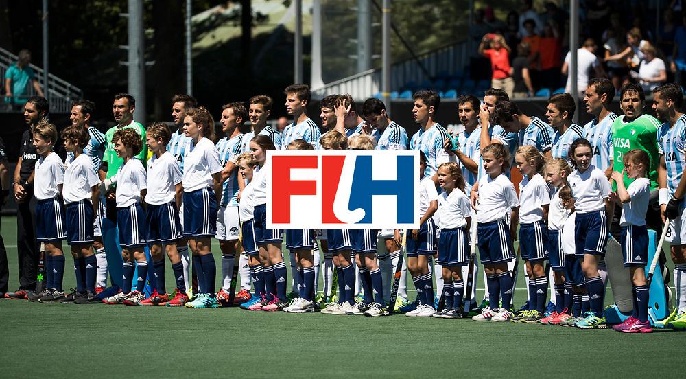 BREDA - line up Argentinie  tijdens de wedstrijd om brons tussen Nederland en Argentinie (2-0) bij de Hockey Champions Trophy. COPYRIGHT KOEN SUYK