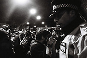 Ravers and Police at Freedom to Party Protest, Shoreditch, London, 2016