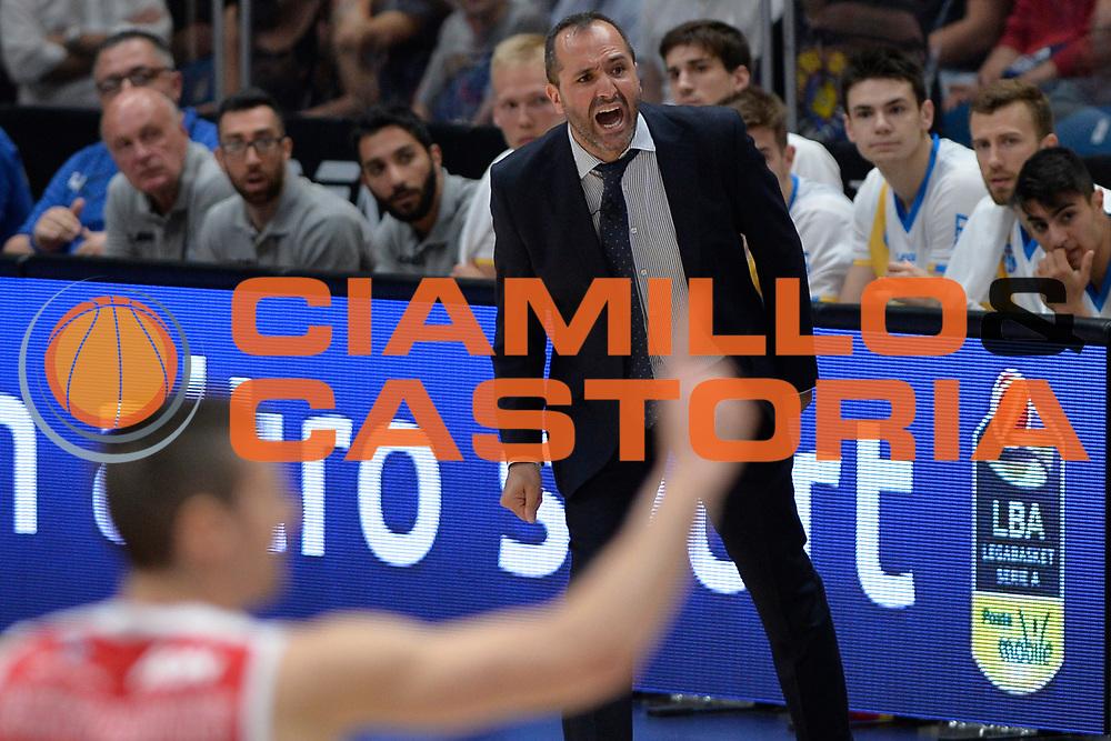 Gennaro Di Carlo<br /> Olimpia EA7 Emporio Armani Milano vs Vanoli Cremona<br /> Lega Basket Serie A 2016/2017<br /> PlayOff semifinale gara 2<br /> Milano 14/05/2017<br /> Foto Ciamillo-Castoria / I.Mancini