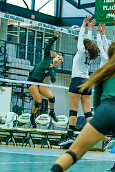 BLOOMINGTON, IL - August 24: Jessica McCall during  the IWU Titans Women<br /> s Volleyball Green-White scrimmage on August 24 2019 at Shirk Center in Bloomington, IL. (Photo by Alan Look)
