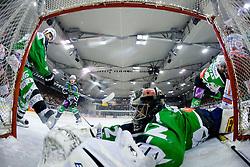 Jan Chabera (HDD Tilia Olimpija, #32) during ice-hockey match between HDD Tilia Olimpija and HK Acroni Jesenice in 26th Round of EBEL league, on December 10, 2010 at Hala Tivoli, Ljubljana, Slovenia. (Photo By Matic Klansek Velej / Sportida.com)