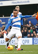 Queens Park Rangers midfielder Matt Phillips with a strike on goal during the Sky Bet Championship match between Queens Park Rangers and Wolverhampton Wanderers at the Loftus Road Stadium, London, England on 23 January 2016. Photo by Andy Walter.