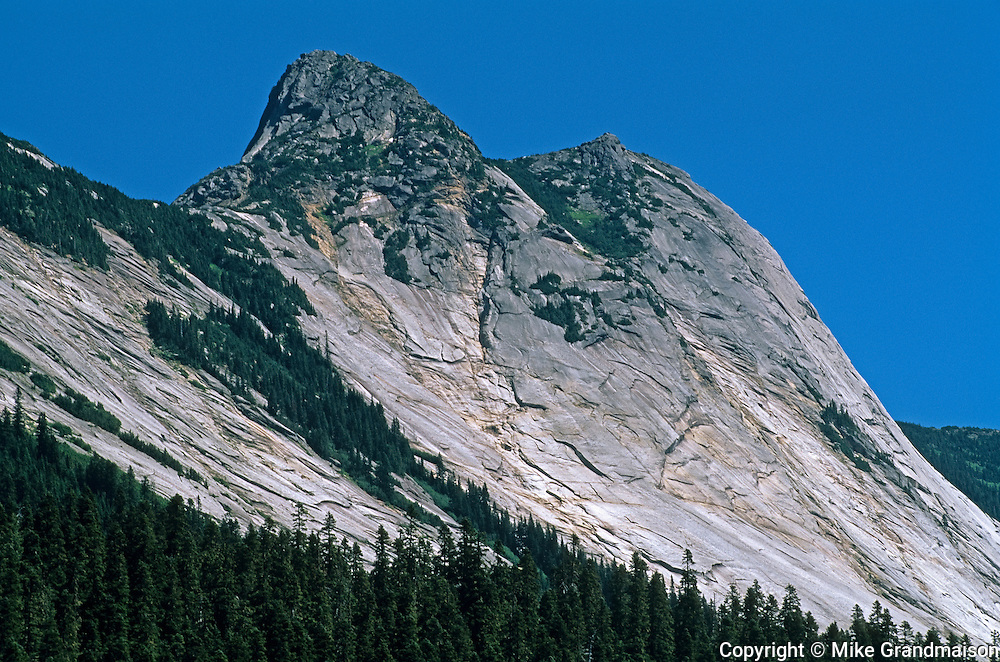 Mountain peak on the Coquihala Highway<br /> On the Coquihala Highway<br /> British Columbia<br /> Canada