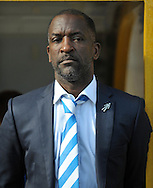 Chris Powell manager of Huddersfield Town  during the Sky Bet Championship match at the John Smiths Stadium, Huddersfield<br /> Picture by Graham Crowther/Focus Images Ltd +44 7763 140036<br /> 19/09/2015