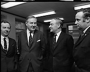 James Callaghan Visits Dublin..1971..05.02.1971..02.05.1971..5th February 1971..While in Dublin to meet the Taoiseach, Mr Jack Lynch TD,the former British Home Secretary, James Callaghan paid a courtesy call on the leader of the opposition Mr Liam Cosgrave TD..Picture shows Mr Liam Cosgrave TD, Fine Gael, leader of the Dail opposition and Mr James Callaghan MP,Former British Home Secretary,meeting in Mr Cosgrave's office in Dail Eireann