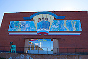 "Mural above the PolarStar shop and museum at Barentsburg, a Russian coal mining town in the Norwegian Archipelego of Svalbard. Once home to about 2000 miners and their families, less than 500 people now live here. This mage can be licensed via Millennium Images. Contact me for more details, or email mail@milim.com For prints, contact me, or click ""add to cart"" to some standard print options."