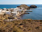 Small fishing village of Isleta del Moro, Cabo de Gata natural park, Almeria, Spain