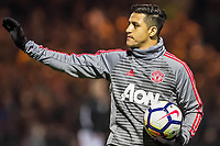 Alexis Sanchez (7) of Manchester United ManU acknowledges the fans before The FA Cup fourth round match between Yeovil Town and Manchester United at Huish Park, Yeovil, England on 26 January 2018. <br /> Norway only