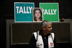A photograph of Savita Halappanavar is seen at the count centre in Dublin's RDS as votes are counted in the referendum on the 8th Amendment of the Irish Constitution which prohibits abortions unless a mother's life is in danger. Picture date: Saturday May 26, 2018. See PA story IRISH Abortion. Photo credit should read: Brian Lawless/PA Wire