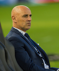 October 7, 2017 - Melbourne, Victoria, Australia - Melbourne Victory coach Kevin Muscat watches his players warm up before the round 1 match between Melbourne Victory and Sydney FC at Etihad Stadium in Melbourne, Australia during the 2017/2018 Australian A-League season. (Credit Image: © Theo Karanikos via ZUMA Wire)