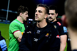 Sean Lonsdale of Exeter Chiefs after the final whistle of the match - Mandatory by-line: Ryan Hiscott/JMP - 25/11/2019 - RUGBY - Sandy Park - Exeter, England - Exeter Braves v Harlequins - Premiership Rugby Shield