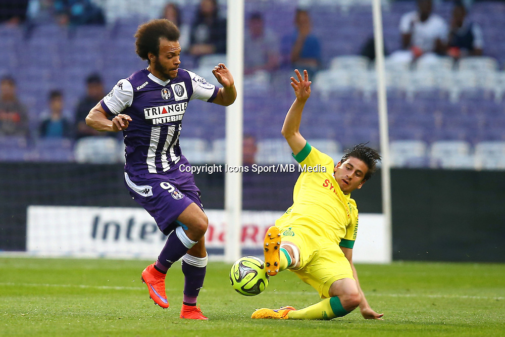 Martin Braithwaite / Alejandro Bedoya - 25.04.2015 - Toulouse / Nantes - 34eme journee de Ligue 1<br />
