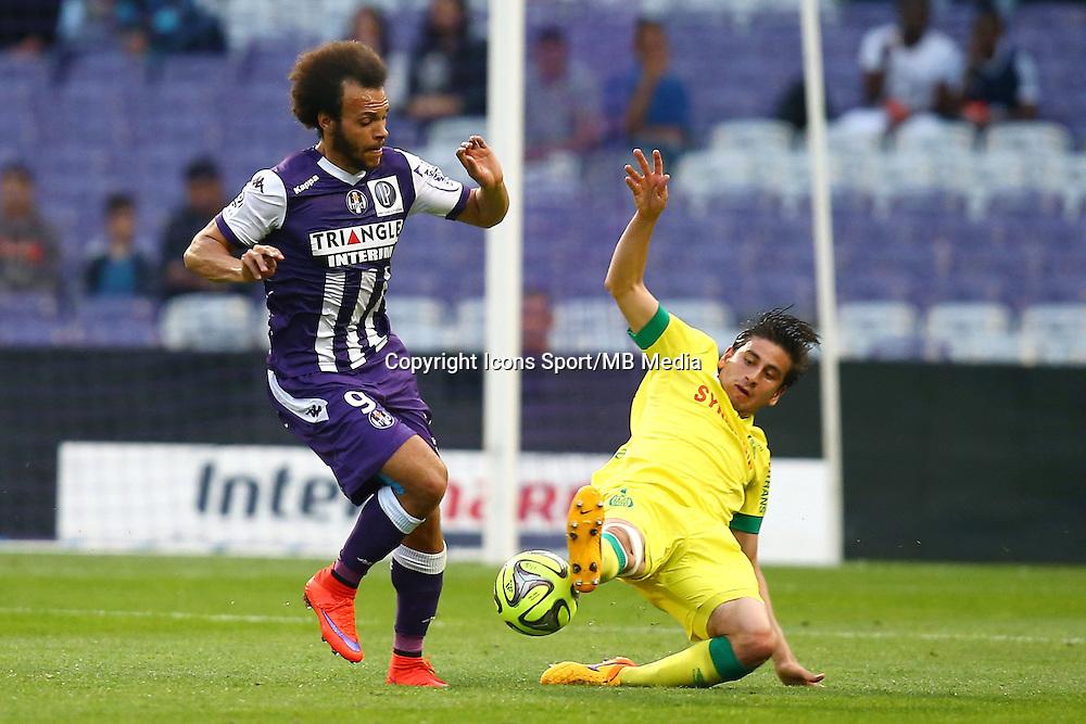 Martin Braithwaite / Alejandro Bedoya - 25.04.2015 - Toulouse / Nantes - 34eme journee de Ligue 1<br />Photo : Manuel Blondeau / Icon Sport