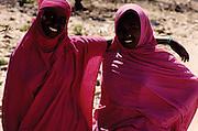 Assamo, Djibouti. 2 Somali girls.