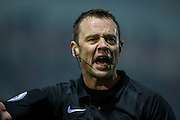 Stuart Attwell (referee) during the EFL Sky Bet Championship match between Rotherham United and Leeds United at the New York Stadium, Rotherham, England on 26 November 2016. Photo by Mark P Doherty.
