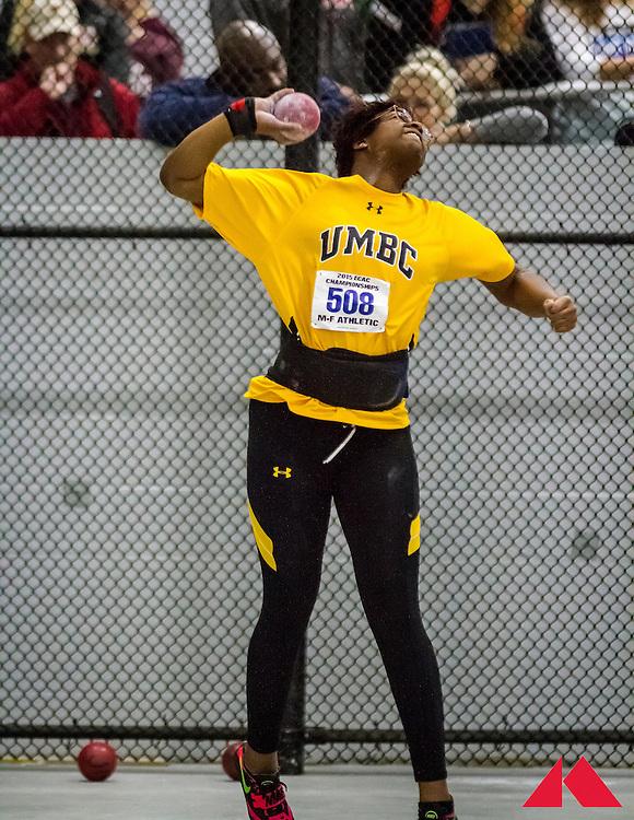 ECAC Indoor Champs, womens shot put, UMBC