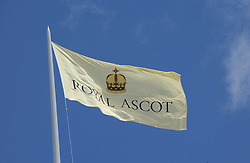 Flag at the 3rd day - Ladies Day of Roayl Ascot 2006 on 22nd June 2006.<br />