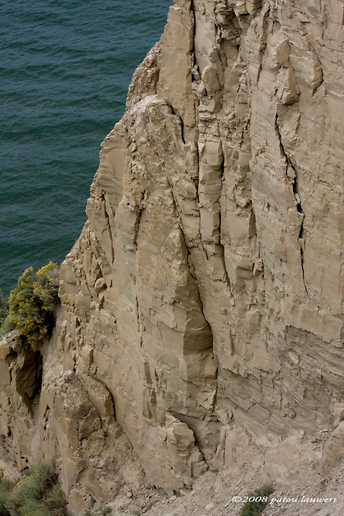 coastal cliff in the Okanagan, BC, Canada