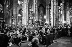 The Cathedral of Saints Vitus, Wenceslas, and Adalbert, Prague Castle, 29 December 1989<br /> The Te Deum celebrated for the new president.