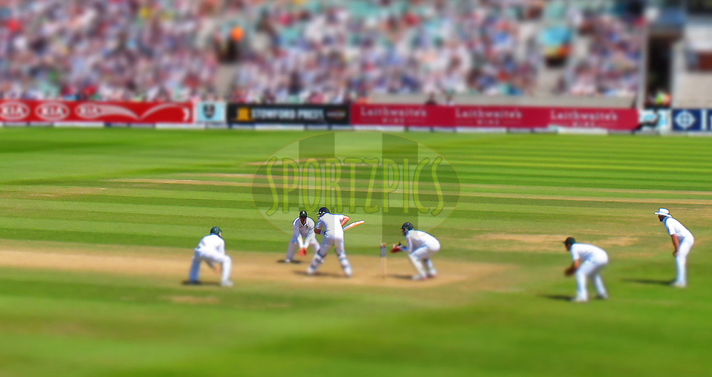 Ian Bell &  Matt Prior (WK) bat to try and save the game for England  - England v South Africa - 1st Investec Test Match -  Day 5 - The Oval  - London - 23/07/2012..Tilt & shift effect in camera..Andrew Fosker / Seconds Left Images