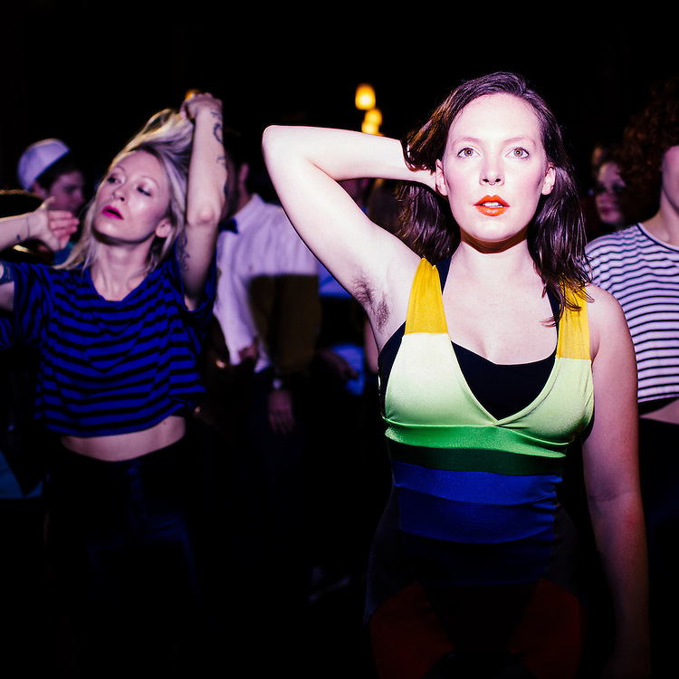 Sylvan Esso, Amelia Randall Meath and Nick Sanborn, February, 2014. Photo by D.L. Anderson