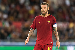 Daniele De Rossi of AS Roma during the UEFA Champions League group C match match between AS Roma and Atletico Madrid on September 12, 2017 at the Stadio Olimpico in Rome, Italy.