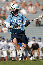 26 April 2009: North Carolina Tar Heels midfielder Jimmy Dunster (40) during a 15-13 loss to the Duke Blue Devils during the ACC Championship at Kenan Stadium in Chapel Hill, NC.