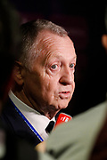 Jean Michel Aulas president OL during the UEFA Women's Champions League, semi final, 2nd leg football match between Olympique Lyonnais and Manchester City on April 29, 2018 at Groupama stadium in Décines-Charpieu near Lyon, France - Photo Romain Biard / Isports / ProSportsImages / DPPI