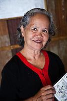 Woman at the Bidayuh Longhouse in the Sarawak Cultural Village near Kuching.