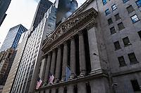 US, New York City. The New York Stock Exchange on Wall Street.