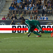 D.C. United Keeper BILL HAMID (28) attempts to makes a save in the second half a MLS regular season match against the Philadelphia Union Saturday. August. 10, 2013 at PPL Park in Chester PA.
